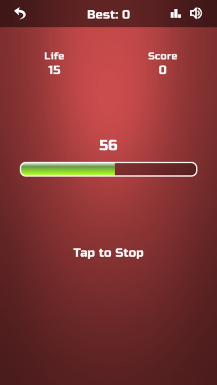 Tap the Loading Bar
