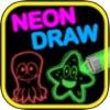 ネオンドロー - 明るい色のレーザー図面