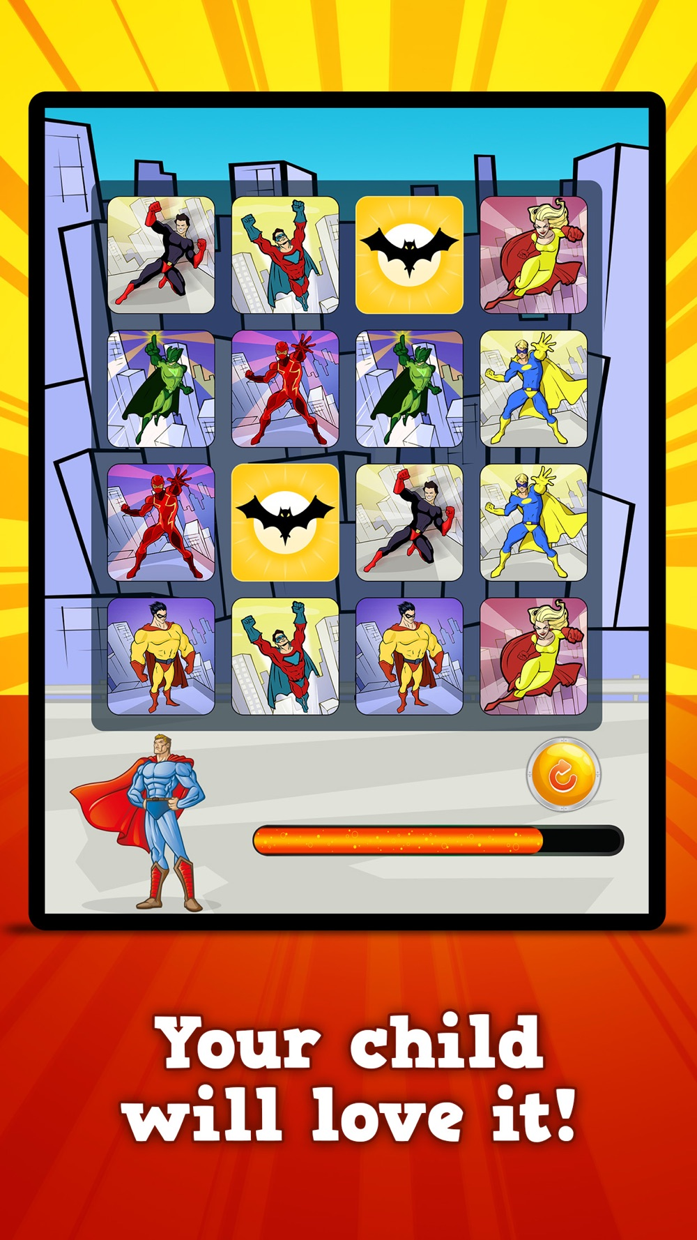 Superheroes & Action Robots : Matching Games hack tool