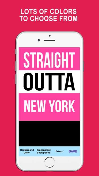 Straight Outta - Create and Design Text PNG Images
