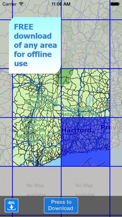 Aqua Map Connecticut CT Lakes HD - Nautical Charts screenshot-4
