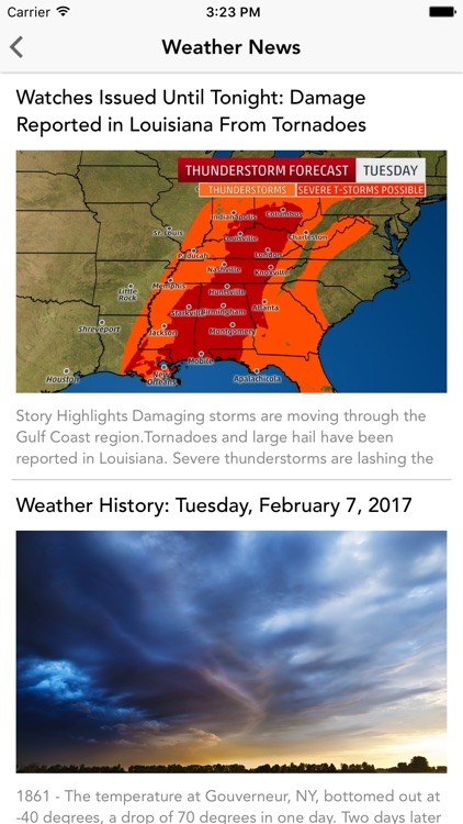 Local Weather Forecast, Radar, Storm Warning Alert screenshot-3