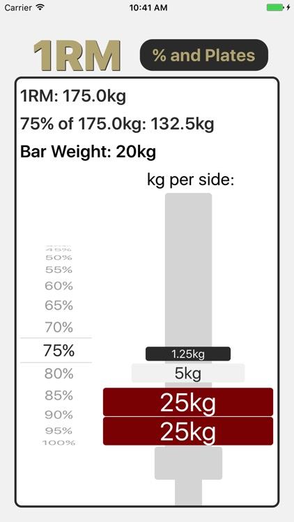 1RM - Simple & Easy One Rep Max Calculator screenshot-3