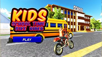 Kids School Time Bike Rider – Riding Game screenshot one