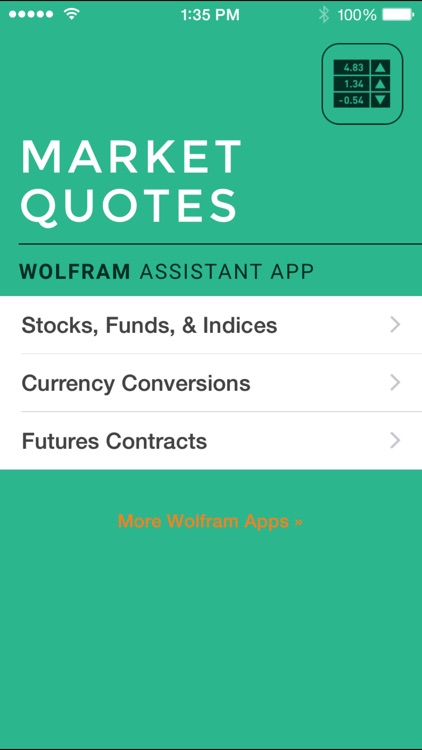 Wolfram Market Quotes Assistant App