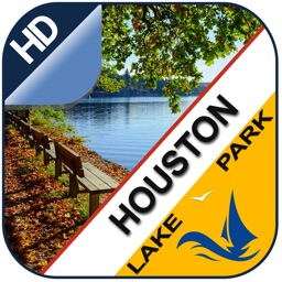 Houston offline gps chart for lake and park trails