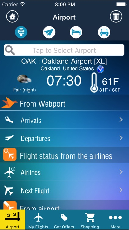Oakland Airport Pro (OAK) + Flight Tracker