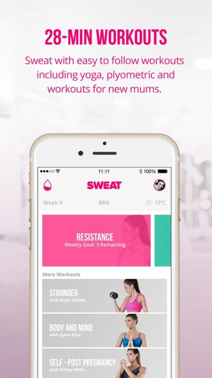Sweat: Kayla Itsines' Bikini Body Fitness Workouts app image