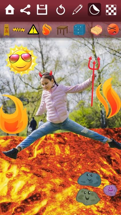 Paint lava effects on photos – Photo editor