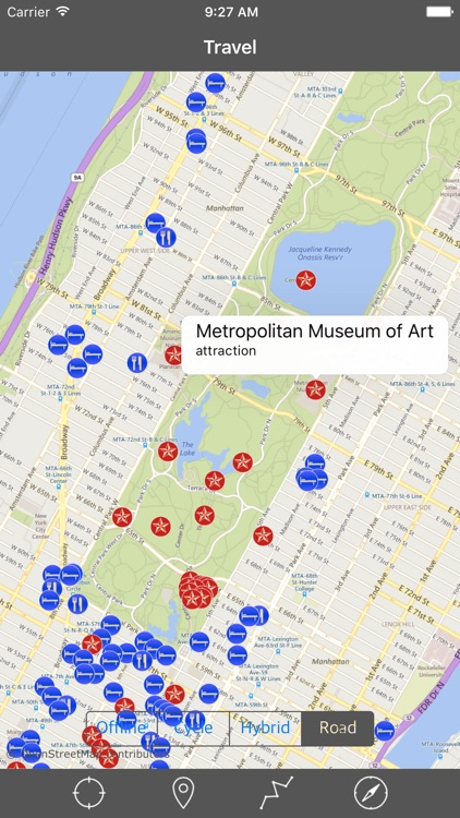 MANHATTAN (NEW YORK) – GPS Travel Map Navigator