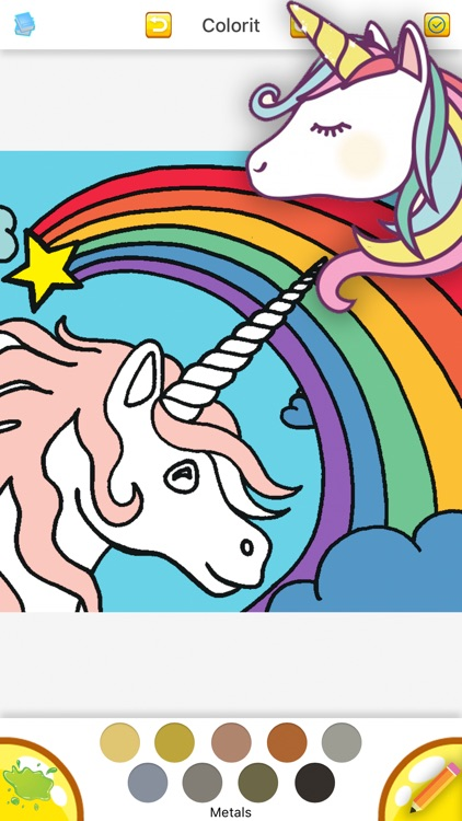 Cute Unicorn Coloring Drawing Book for Girl by Angrisa Leungtanapolkul