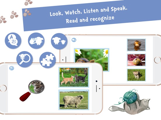 Screenshot #4 for Sami Tiny FlashCards Animals 6 languages kids apps