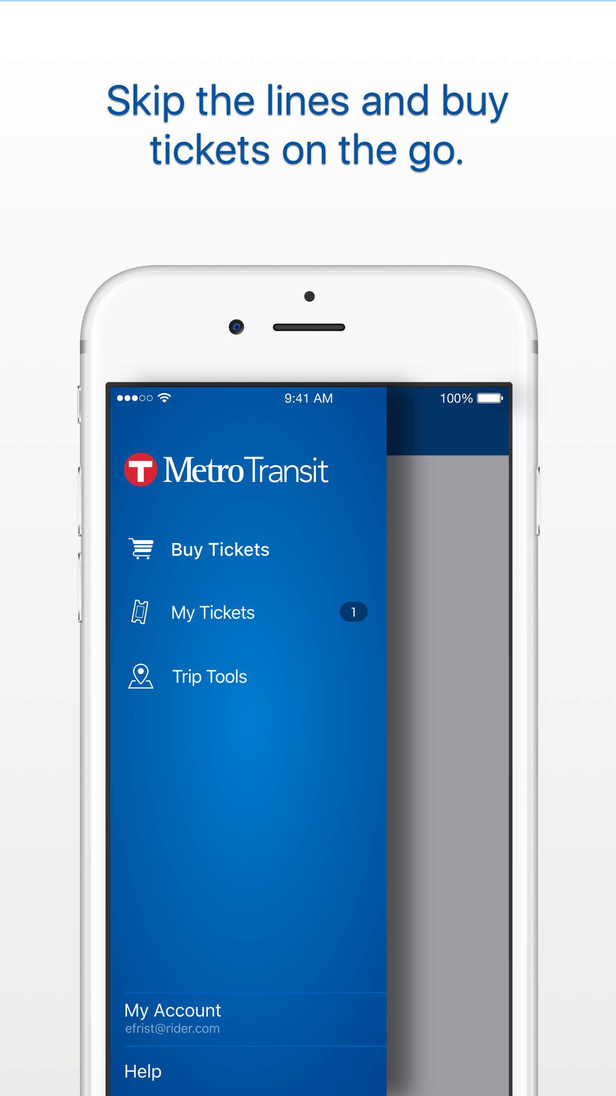 Metro Transit Screenshot