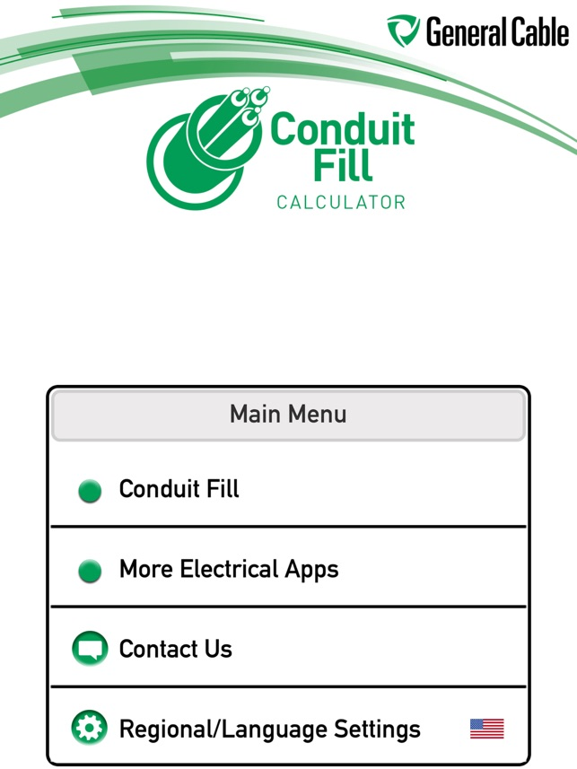 General cable conduit fill on the app store general cable conduit fill on the app store greentooth Choice Image