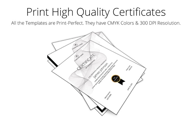Printperfect certificate templates for indesign on the mac app store yadclub Choice Image