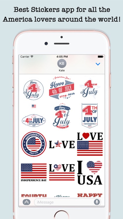 4th Of July Wishes Stickers For iMessage