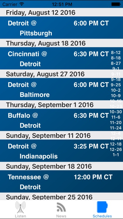 Detroit Football - Radio, Scores & Schedule screenshot-3