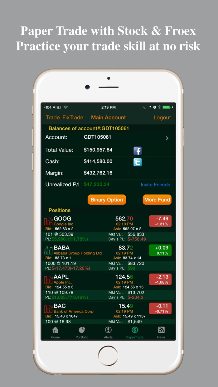 Real-time Stocks Tracker Screenshot