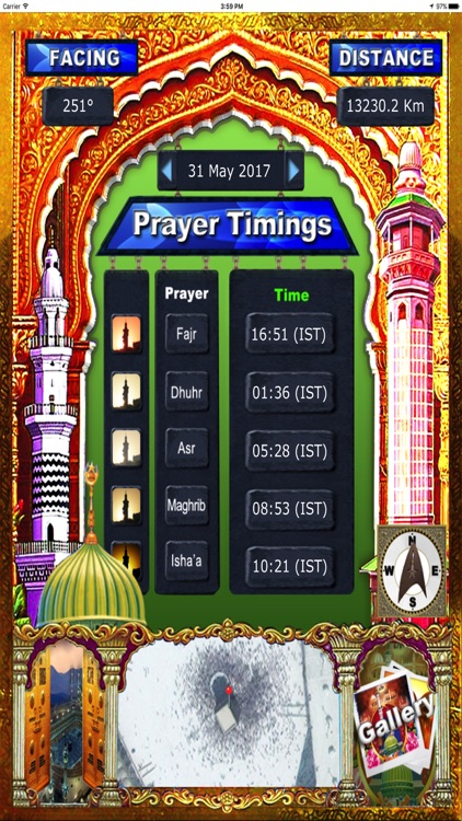 Find Mecca (Qibla) - Direction & Prayer Timings HD