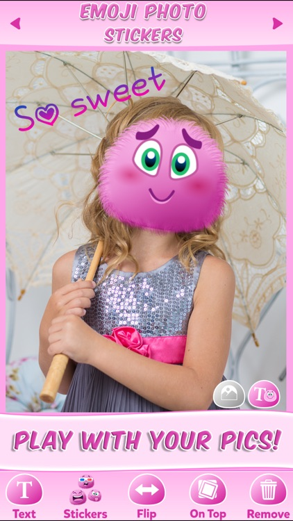 Emoji Stickers Photo: Cute Sticker & Pink Emoticon screenshot-3