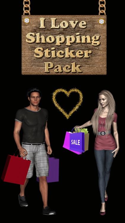 I Love Shopping Sticker Pack for iMessage