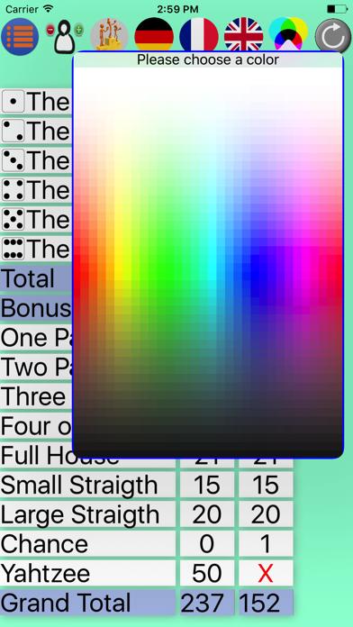 Screen Shot Yatzy Pocket Scorecard 2