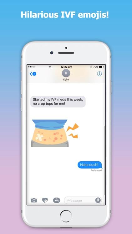 emojIVF: IVF Emoji & Stickers for Women doing IVF