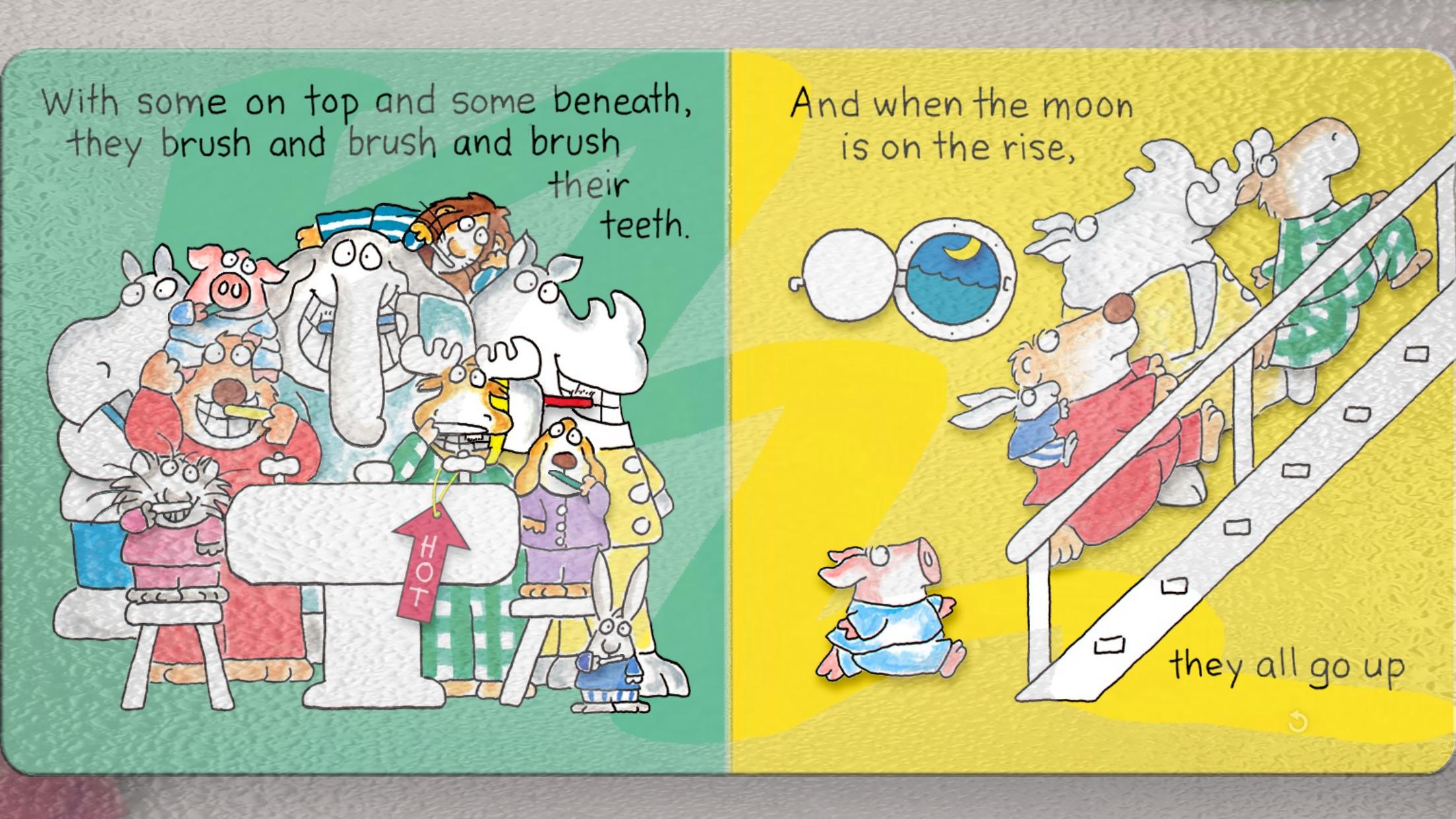 The Going to Bed Book by Sandra Boynton Screenshot