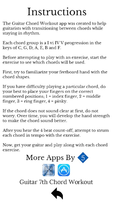 Guitar Chord Workout - App - Mobile Apps