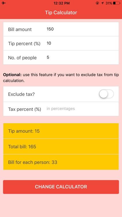 Tip Calculator - Fast Tip and Bill Splitter