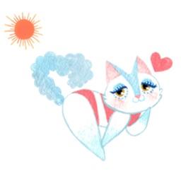 Bikini Cat Sticker