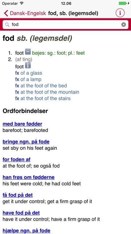 English Danish Dictionary - Medium