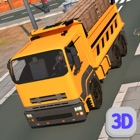 Euro truck cargo construction icon