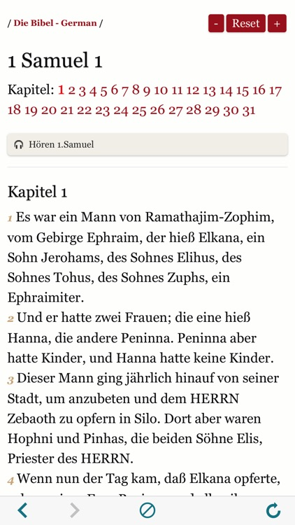 German Holy Bible Audio and Text - Luther Version