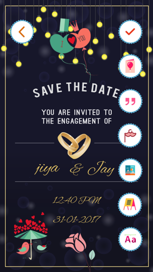 Engagement Invitation Cards Maker Pro On The App Store
