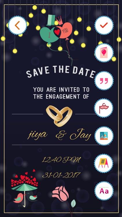 engagement invitation cards maker pro by bhavik savaliya