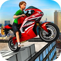 Kids MotorBike Stunt Rider - Rooftop Motorcycle 3D