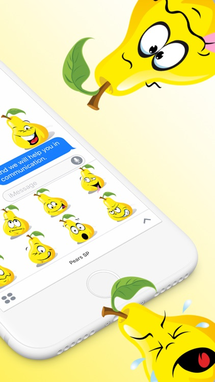 Pears SP emoji stickers