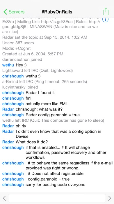 LimeChat - IRC Client screenshot1