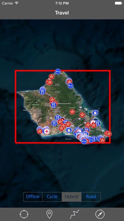 OAHU – GPS Travel Map Offline Navigator