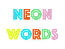 Neon animated words and shortcuts stickers for iMessage