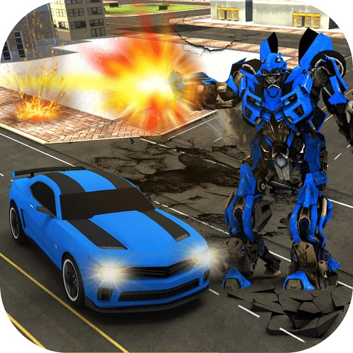 Car Robot Transform Fight- Robo war city defense