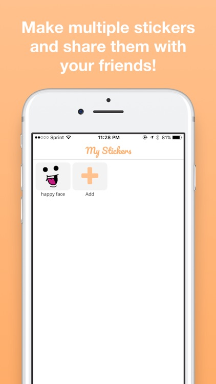 My Stickers: Draw your own stickers app