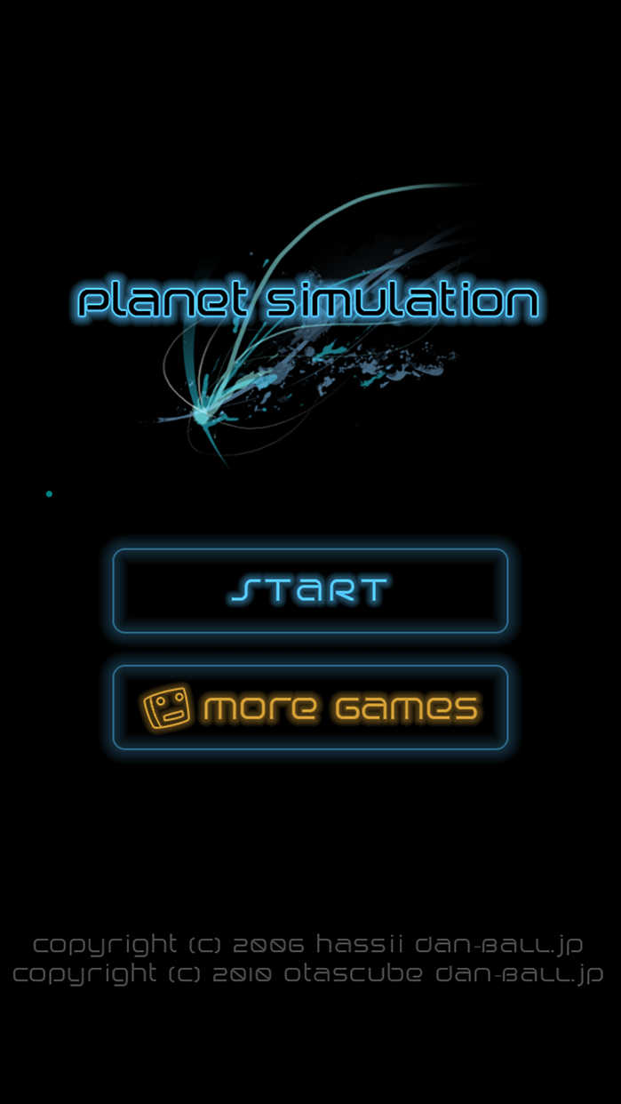 Planet simulation Screenshot