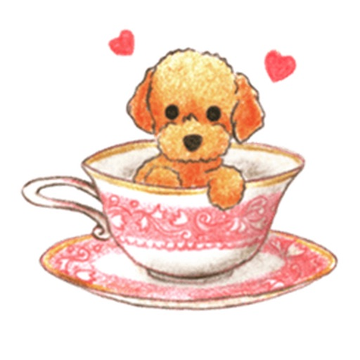 Watercolor Lovely Toy Poodle Sticker icon