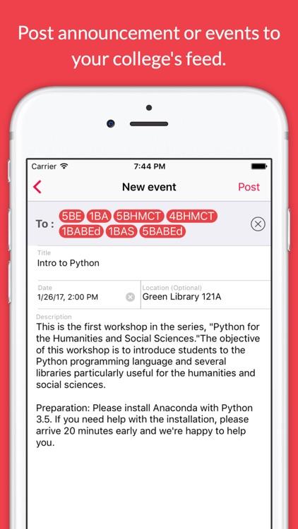 PocketBoard - Social Network For College