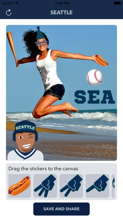 Seattle Baseball Stickers & Emojis