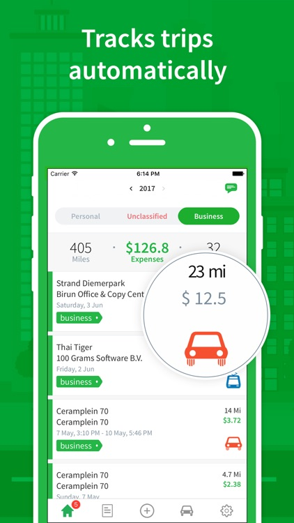 Passenger - mileage tracking, log miles & expenses