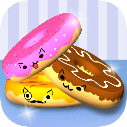 Donut Kitty Cats Tower Stack 3D