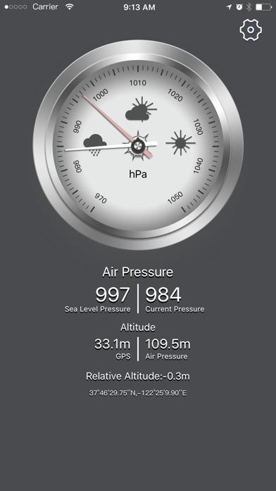 Barometer GPS--current barometric&altitude screenshot one